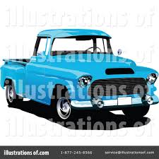 Pickup Truck Clipart #1068186 - Illustration by leonid