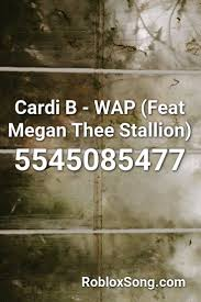 This music can be played on boombox by using the corresponding id. Cardi B Wap Feat Megan Thee Stallion Roblox Id Aug 21 2020 Find Roblox Id For Track Cardi B Wap Feat Megan Th In 2021 Roblox Quotes For Kids Roblox Codes