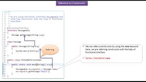 Java Ee How To Refer A Constructor Using Method Reference Method