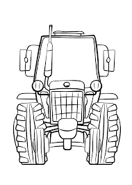 Kleurplaat Baby Tractor