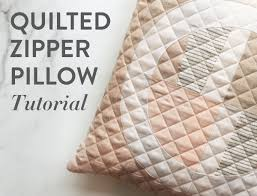 elegant quilted pillow diy sew a quilted zipper pillow with this step by step tutorial