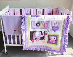 baby crib sheets for girls purple animals girls baby crib bedding set 3d embroidered owl
