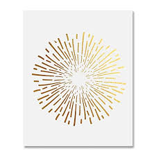 burst gold foil art print abstract circle fireworks concentric lines sun starburst poster contemporary geometric wall on starburst wall art amazon with amazon burst gold foil art print abstract circle fireworks