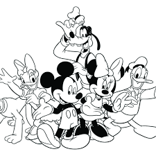 Small Picture Mickey Mouse And Friends Coloring Pages Mickey And Friends