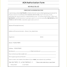 Direct Deposit Template Free Template Ach Authorization