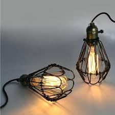 vintage cage light hot bulb vintage industrial lighting metal lamp pendant light bird cage lights