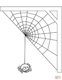 Small Picture Spider and Spiderweb coloring page Free Printable Coloring Pages