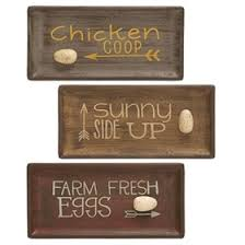 egg themed serving trays 3 assorted  on chicken coop wall art with d cor signs wall art my pet chicken