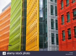 colourful modern building facades central saint giles london uk stock image central saint giles office building google