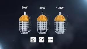 Led Temp Construction Lights Htm High Output Led Drop Lights Temporary Construction Lights