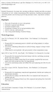 Resume Templates: Chiropractic Assistant