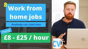 8 work from home jobs anyone can start now
