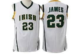 lebron irish jersey. lebron james #23 irish high school jersey