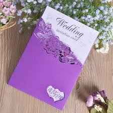 Purple Christmas Card Purple Wedding Invitations Card Pastoral Wind Hollow Marry Greeting Cards Creative Multifunction Postcard Shell Outter New Arrival 0 88cf Z Free