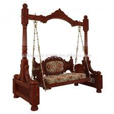 royal indian rajasthani hand carved swing jhoola carved indian teak furniture wooden swing jodhpur wooden swing rajasthan indian wooden swing