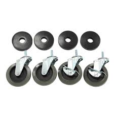 industrial furniture hardware. Industrial Casters With Bumper (4-Pack) Furniture Hardware