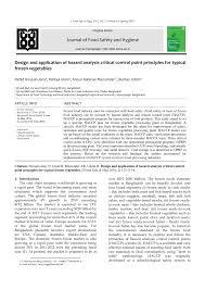 Pdf Design And Application Of Hazard Analysis Critical