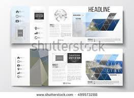 Set Of Tri Fold Brochures Square Design Templates Colorful