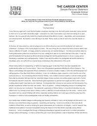 Template Sample Personal Biography Template Statement Grad School