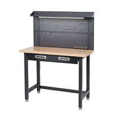 craftsman metal workbench. lighted workbench steel wood top built-in power usb garage tool storage drawer craftsman metal