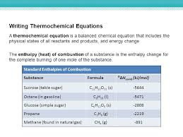 writing thermochemical equations a thermochemical equation is a balanced chemical equation that includes the physical states