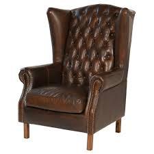 joseph allen old world antique leather wingback chair reviews wayfair