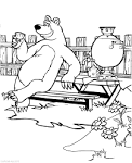 Распечатать машу и медведь раскраску