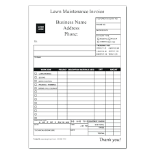 Invoice Schedule Template Landscape Maintenance Checklist Template Landscaping Invoice