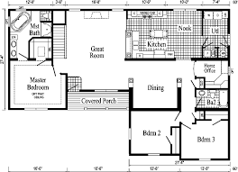 ranch house floor plans. Davenport II Model HF114-A Ranch Home - Floor Plan House Plans R
