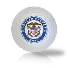 Military Golf Balls - US Navy Emblem