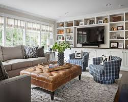 furniture ideas for family room. Example Of A Transitional Dark Wood Floor And Brown Family Room Design In New York Furniture Ideas For