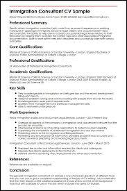immigration consultant cv sample myperfectcv sample bilingual consultant resume