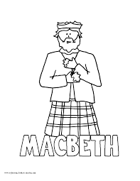 world history coloring pages printables king macbeth