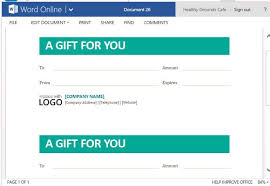 Gift Certificates For Your Business Best Gift Certificate Templates For Word Online