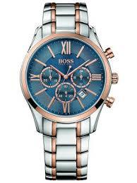 mens dress watches creative watch co hugo boss men s ambassador two toned rose gold chrono date display