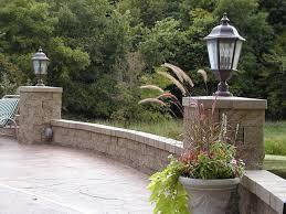 backyard patio with accent lighting contemporary garden