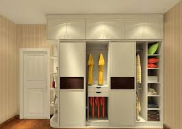 simple and neat closet design ideas using small rounded ceiling fittings and rectangular white wooden shelves also with cream wall