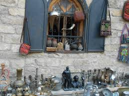 Antique and carpet shops in Old City of Baku