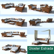 gloster estrada lounge chair 3d model