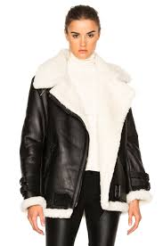 keep cozy in rita s shearling jacket by acne