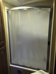 great rv shower curtains rv shower doors hanna trailer supply oak with travel trailer shower curtain ideas