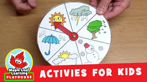 Childrens Calendar Weather Chart Educational Learning