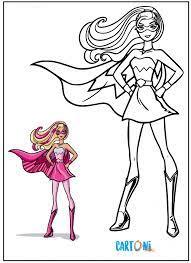 Disegni per i bambini, personaggi cartoni animati, fiabe e favole per bambini : Disegni Barbie Super Principessa Cartoni Animati