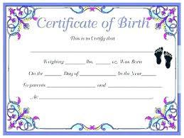 Baby Birth Certificate Template Simplish Info