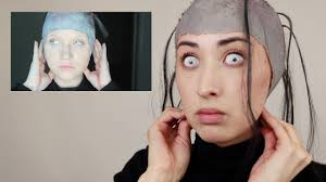 i tried following a glam gore sfx makeup tutorial