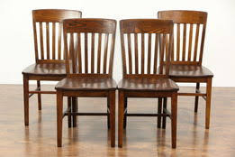 antique dining room chairs. Set Of 4 Oak 1920\u0027s Antique Dining Or Game Table Chairs Room