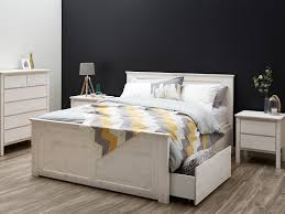 white washed furniture whitewash. Double Bed Frame With Storage Modern Whitewash Design White Washed Furniture
