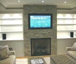 hanging tv on brick fireplace how