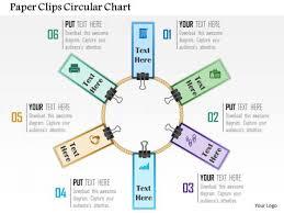 Business Diagram Paper Clips Circular Chart Presentation Template
