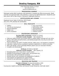 certifications for resume sample resume resume for nurses patient resume  certifications and skills